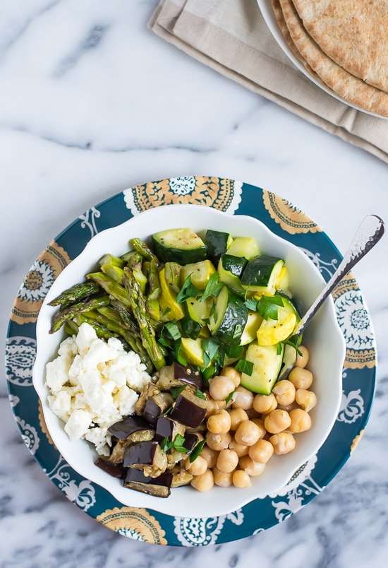 Mediterranean Roasted Vegetable and Chickpea Salad - Healthy and ...