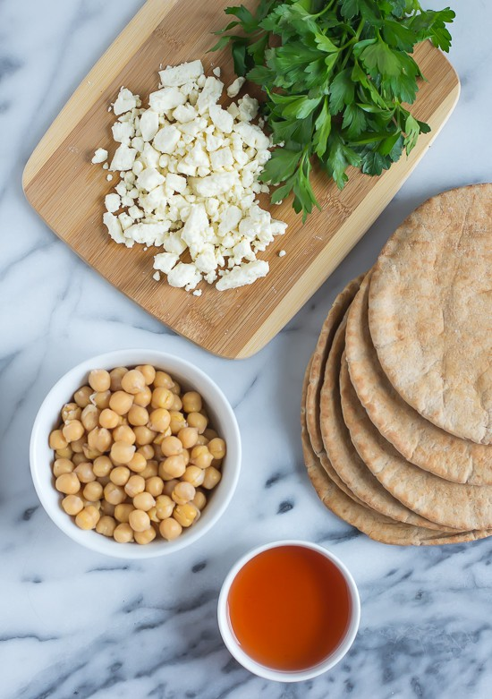 Mediterranean Roasted Vegetable and Chickpea Salad -Chickpeas, Feta, and Parsley
