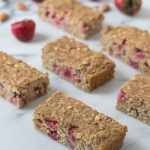 Strawberry Oatmeal Breakfast Bars Recipe. Easy, healthy, and filling!