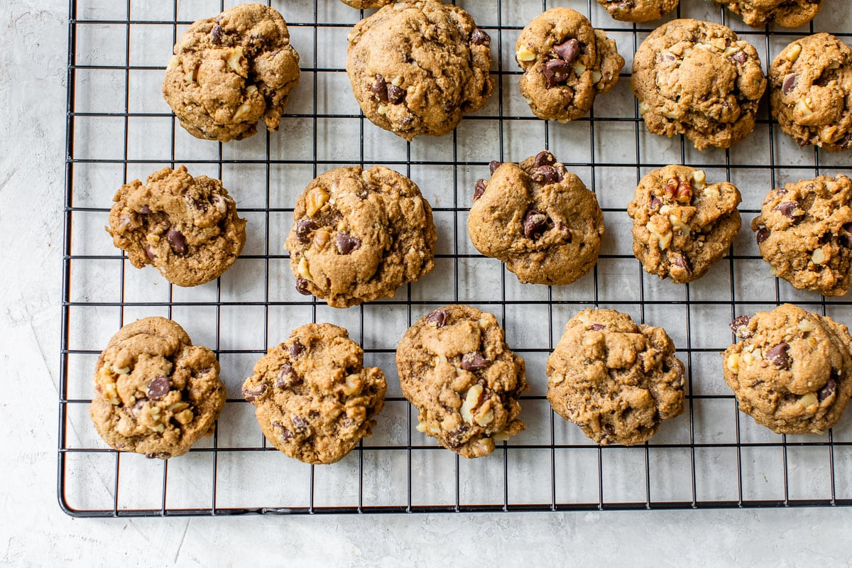 Whole Wheat Walnut Chocolate Chip Cookies. Softest, chewiest cookie I've ever had!