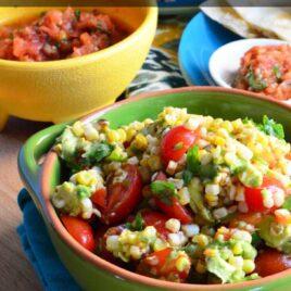 Corn Avocado and Tomato Salad