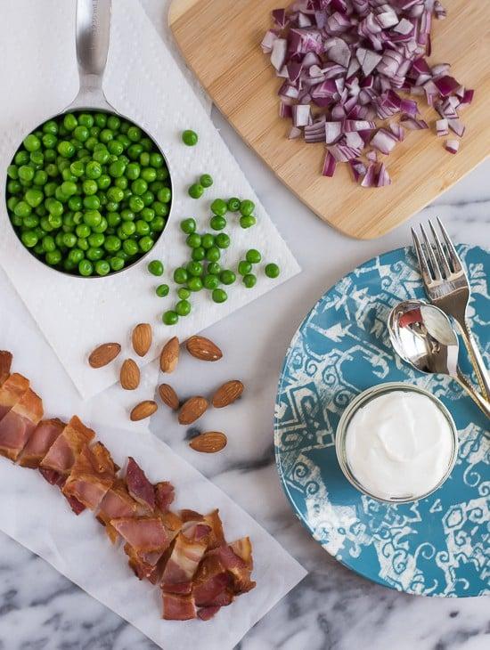 Creamy Green Pea Salad-Ingredients