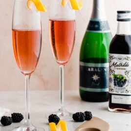 Kir Royale. Just like in Paris! A timeless, elegant cocktail recipe that only needs 2 ingredients!