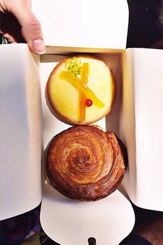 Two delicious treats in a box from Paris