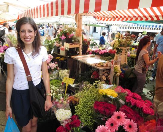 Les Fleurs at the Nice Market