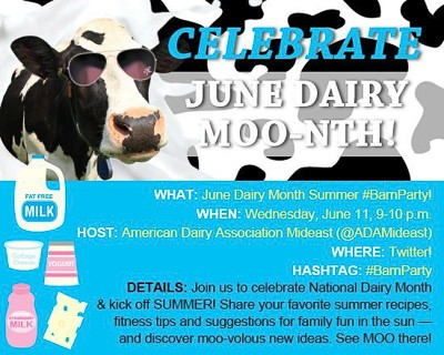 National Dairy Month Twitter Party