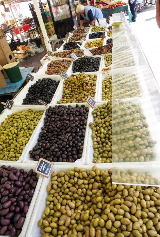 Olives at the Nice Market