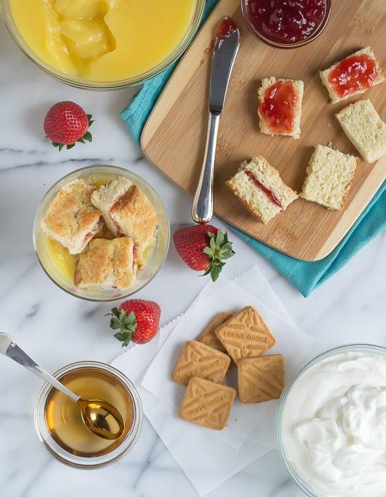 Strawberry Shortcake Trifle -Easy recipe with homemade shortcake