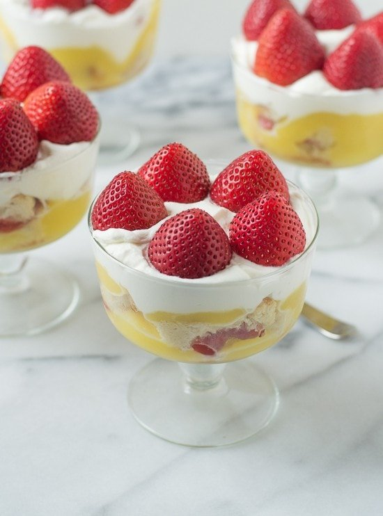 Strawberry Shortcake Trifle with Homemade Whipped Cream