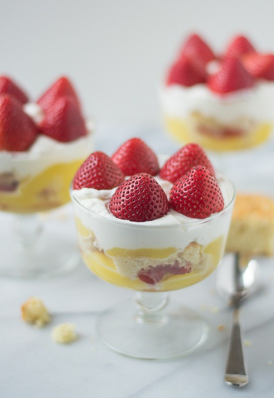 Strawberry Shortcake Trifle Recipe - A creative twist on classic berry trifle made with easy shortcake