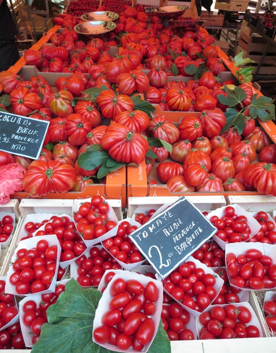 Tomatoes at the Nice Market