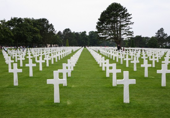 American Cemetary in Normandy - Tombstones