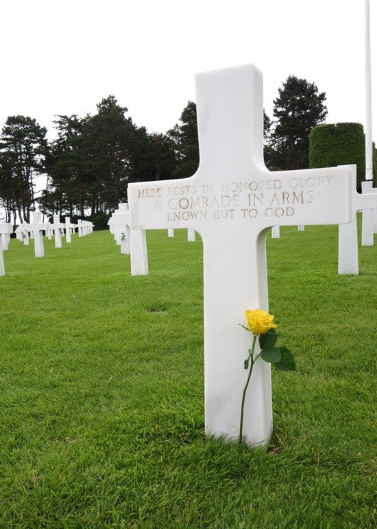 American Cemetary in Normandy - Unknown Soldier