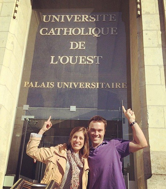 At the University (Language School) in Angers