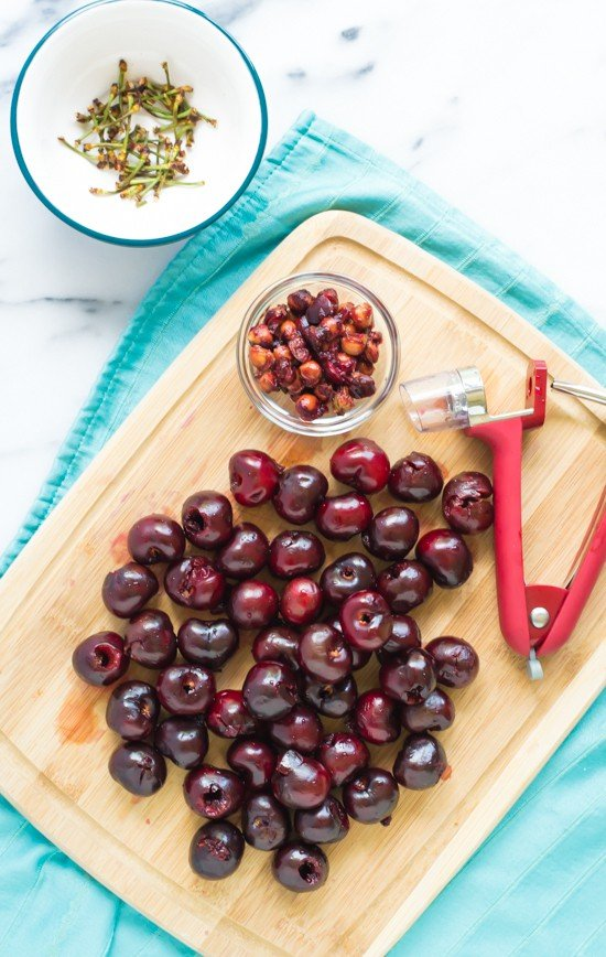 Cherry Salsa-Cherry Pitter in Action