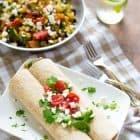 Easy Summer Veggie and Black Bean Burritos