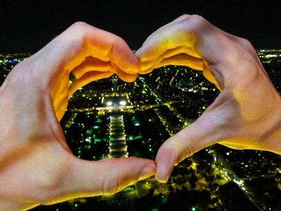Eiffel Tower Heart