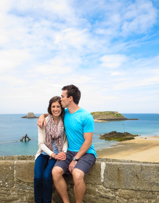 Kiss on the St. Malo Ramparts