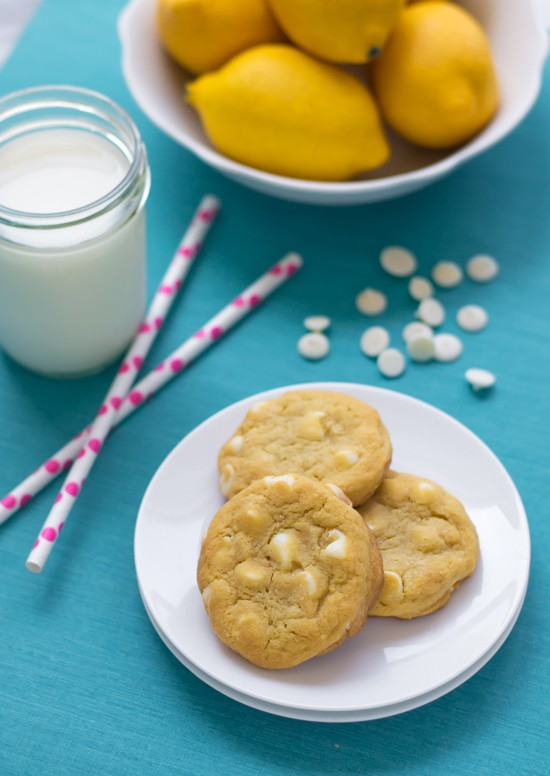 Lemon Pudding Cookies with White Chocolate Chips. Unbelievably soft and chewy!
