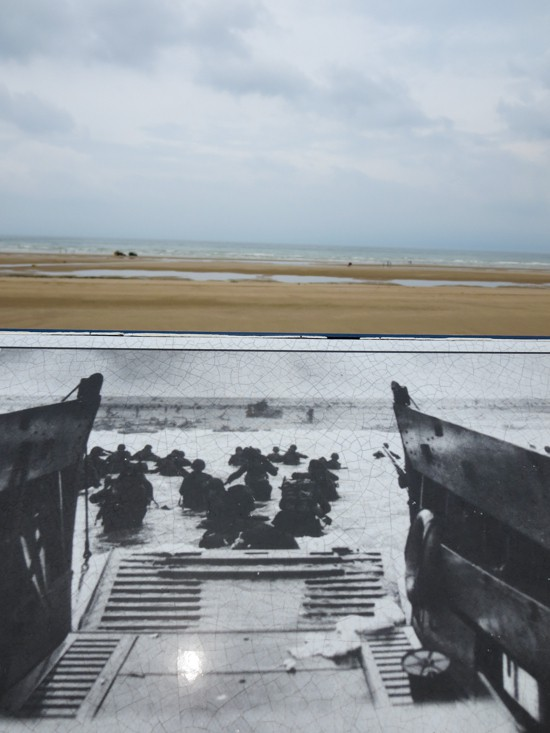 Photo Side by Side - Omaha Beach