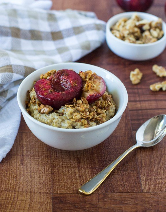 Plum Crunch Steel Cut Oats Recipe