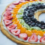 Rainbow Fruit Pizza with Crescent Roll Crust