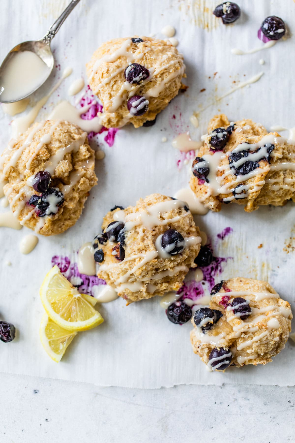 Blueberry Goat Cheese Drop Biscuits. The fluffiest buttermilk biscuits ...