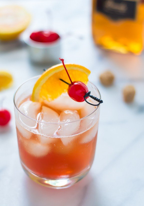 Brandy Old Fashioned. A classic cocktail recipe everyone should know.