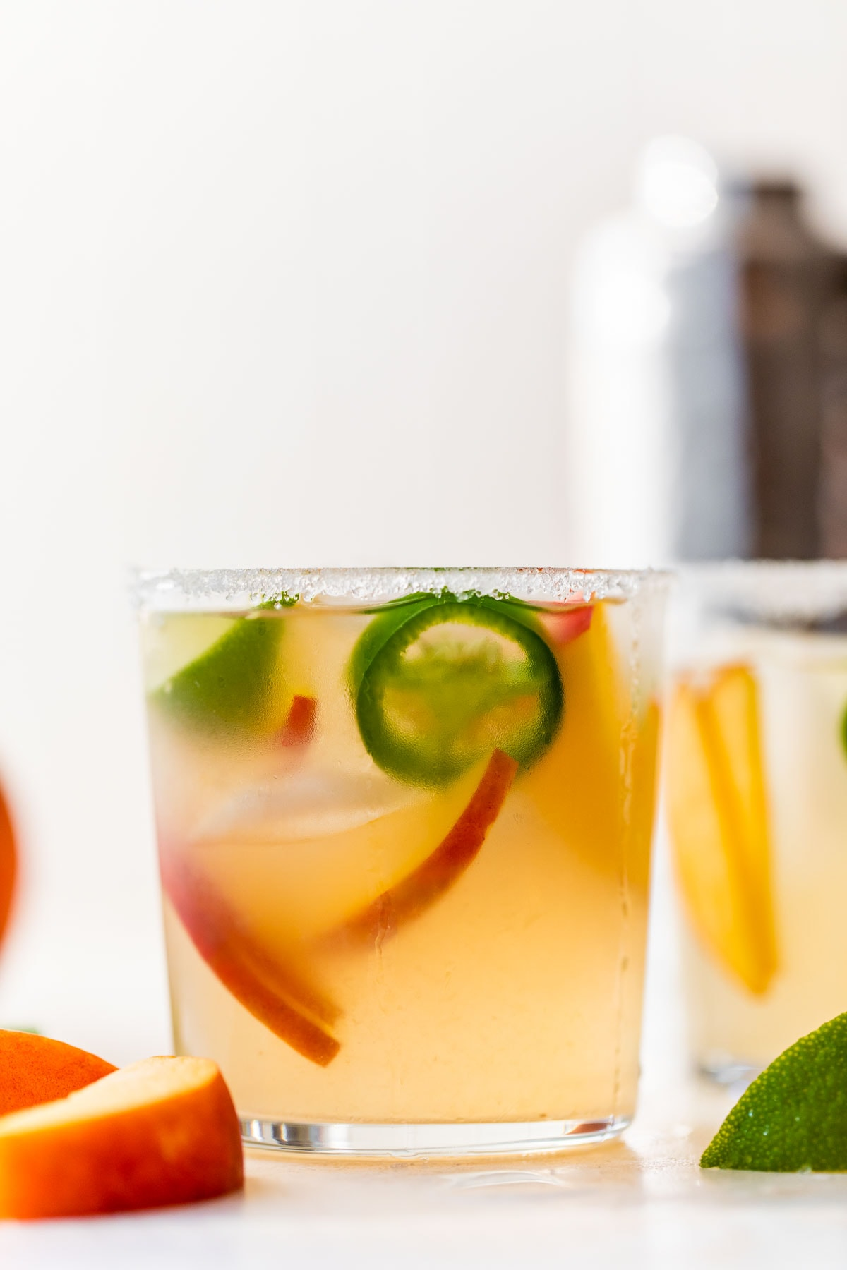Peach Jalapeno Margaritas-Sweet, spicy, and dangerous