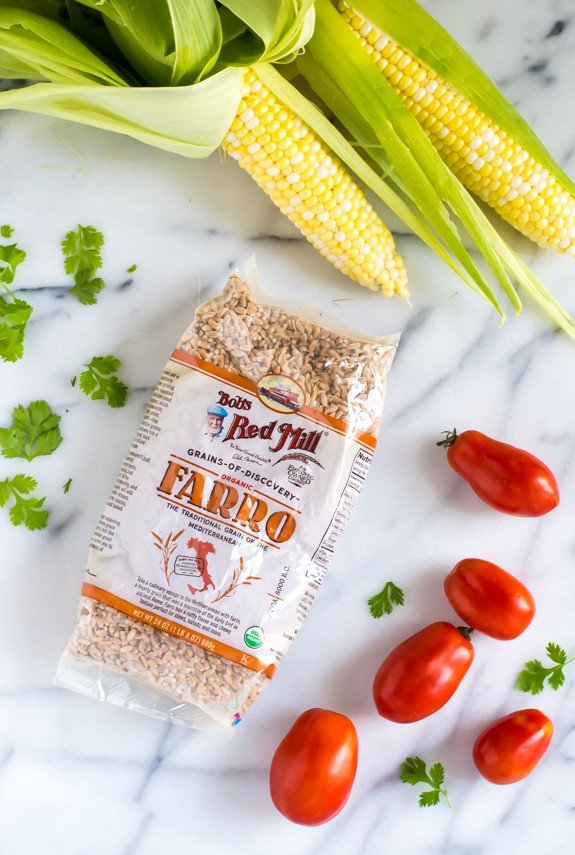 Southwest Farro Salad. The perfect easy and healthy summer dinner