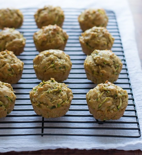 Zucchini Coconut Muffins - Healthy zucchini muffins made with coconut ...