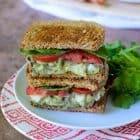 Avocado Egg Salad Sandwiches with Bacon