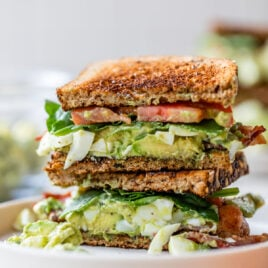 Avocado Egg Salad Sandwiches with Bacon