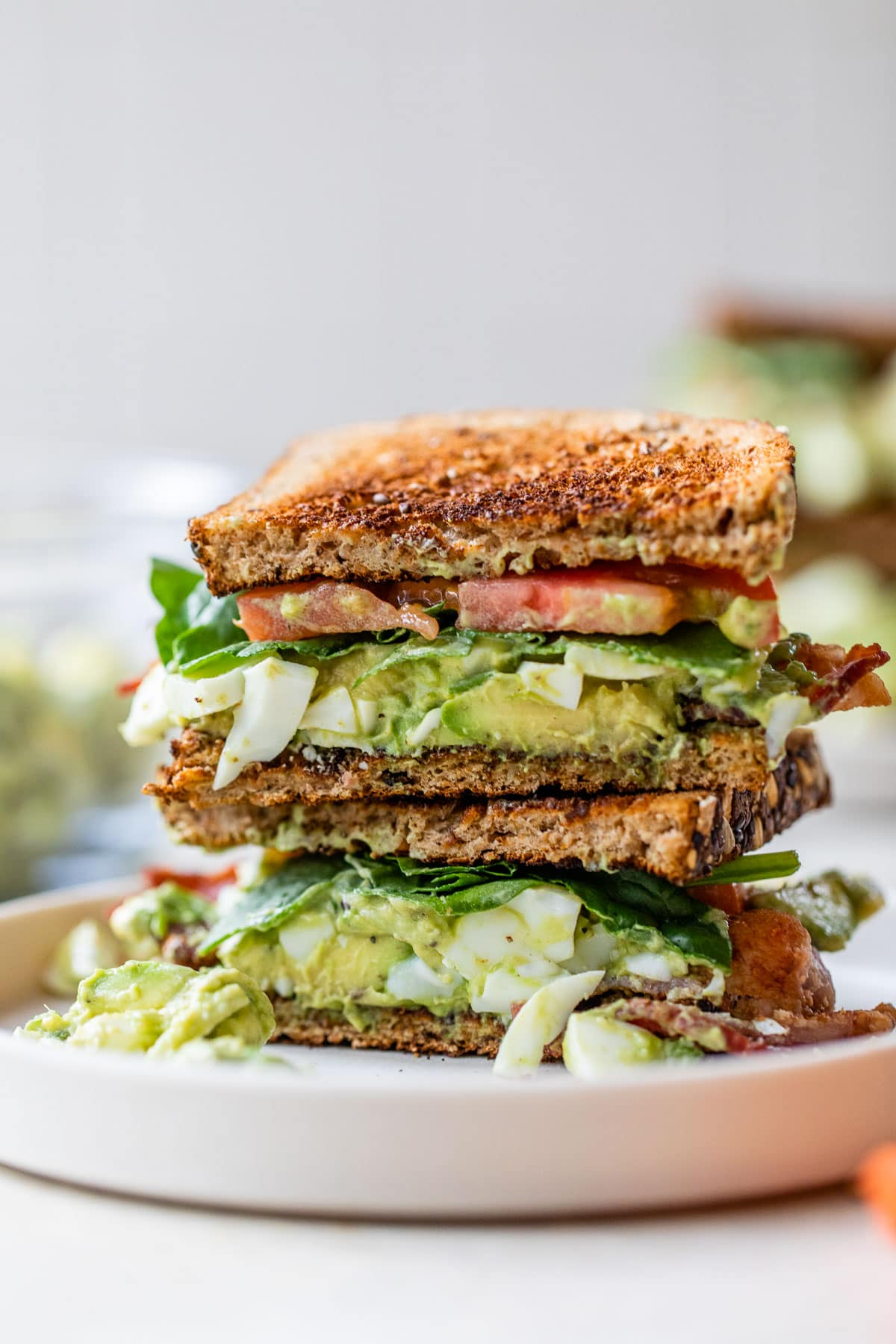 Avocado Egg Salad Sandwiches with Bacon. Use avocado instead of mayo for a healthy egg salad that's loaded with fresh flavor!