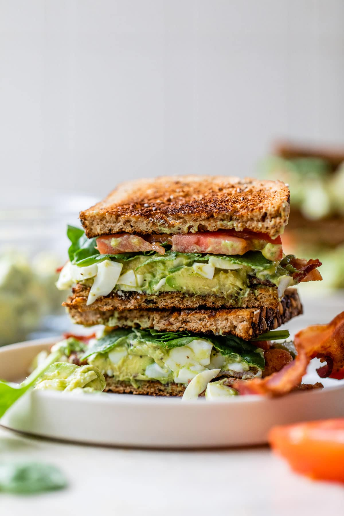 The BEST Avocado Egg Salad and Bacon Sandwiches