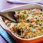 Cheesy Mexican Chicken Quinoa Casserole