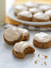 Healthy Pumpkin Spice Latte Cookies with Cinnamon Cream Cheese Frosting