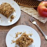 Vegan Caramel Apple Crisp Bars