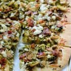 Balsamic Brussels Bacon and Feta Pizza