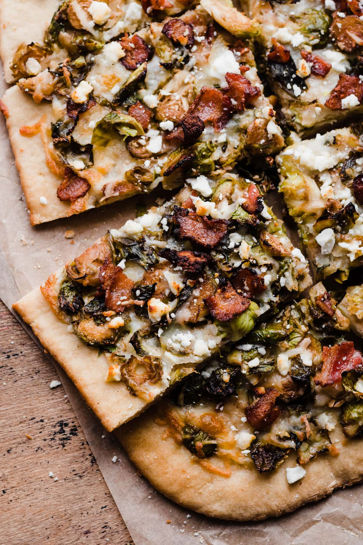 Olive Brussels Sprouts With Feta, Roasted Red Peppers And Bacon Recipe ...