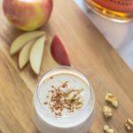 Boozy Apple Pie Smoothies. Tastes just like a grown up apple pie milkshake!