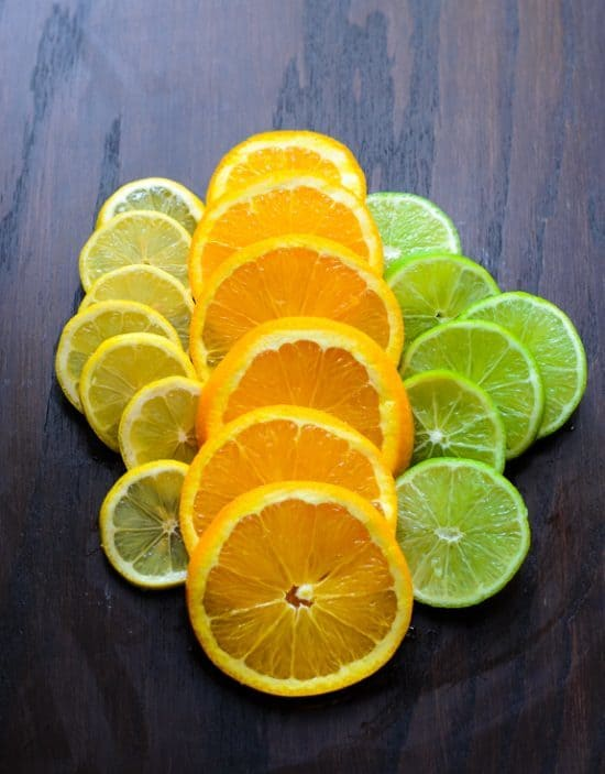 slices of lemons, oranges, and limes