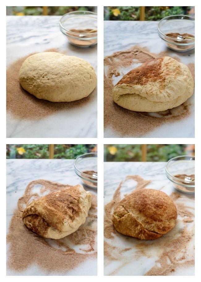 How to make cinnamon swirled bagels-step by step