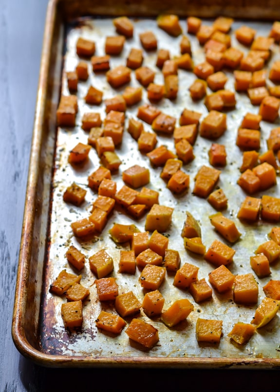 Maple Roasted Butternut Squash Freekeh Salad