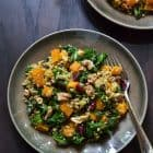 Maple Roasted Butternut Squash and Freekeh Salad with Kale