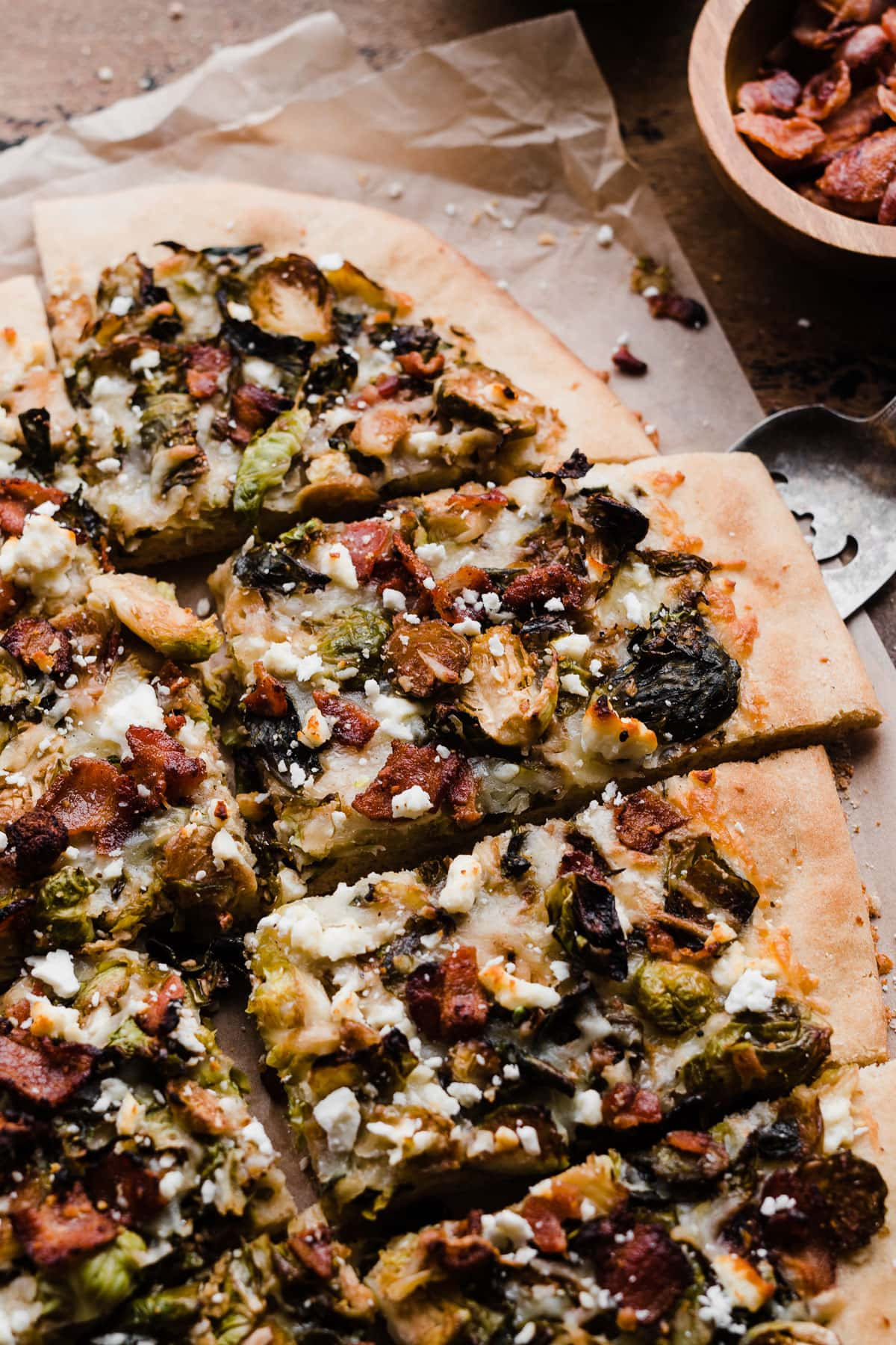 Pizza with Balsamic Brussels Sprouts and Bacon
