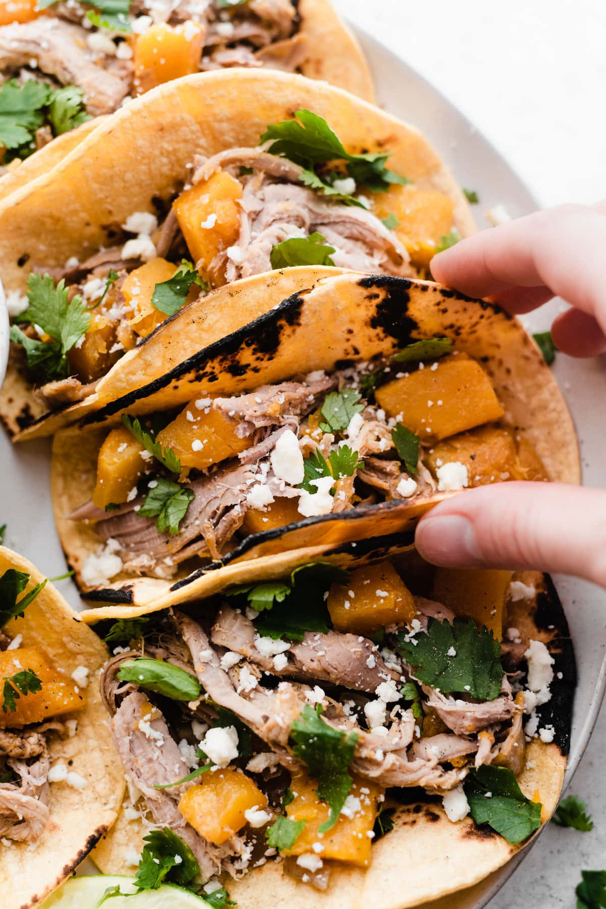 Slow Cooker Butternut Squash and Pulled Pork Tacos