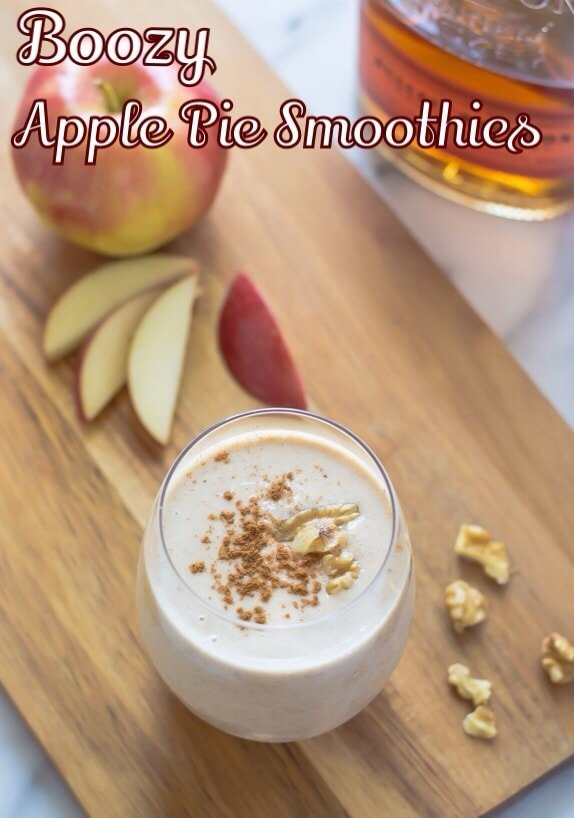 Boozy Apple Pie Oatmeal Smoothies