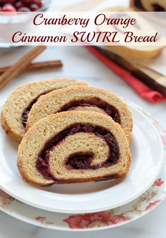 Cranberry Orange Cinnamon Swirl Bread