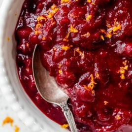 Homemade Cranberry Sauce with Orange and Honey